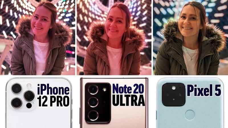 So sánh camera giữa iPhone 12 Pro, Galaxy Note 20 Ultra và Google Pixel 5