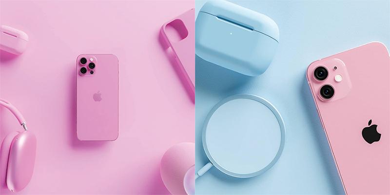 Phien bản màu Rose Pink trên iPhoen 13 và iPhone 13 Pro Max.