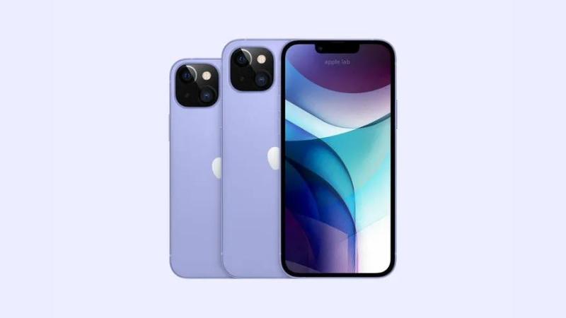 iPhone 13 màu xanh tím pastel. (Nguồn: Apple Lab).