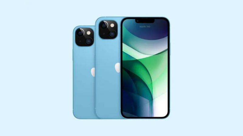 iPhone 13 màu xanh dương pastel. (Nguồn: Apple Lab).