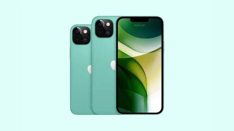iPhone 13 màu xanh lá pastel. (Nguồn: Apple Lab).