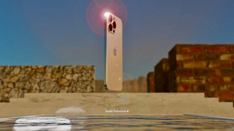 iPhone 13 Pro Max phiên bản màu vàng. (Nguồn: Apple Tomorrow).