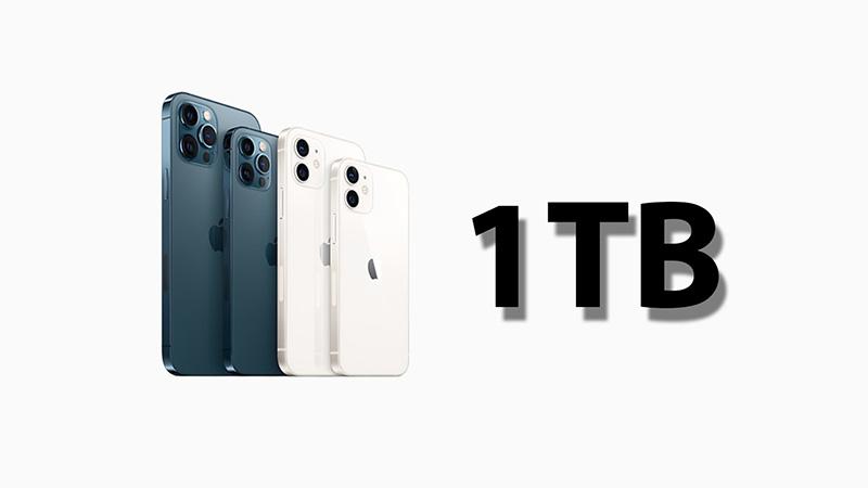 iPhone 13 Pro sẽ có mức dung lượng bộ nhớ lên đến 1 TB