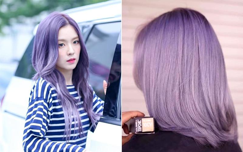 10+ kiểu nhuộm tóc màu tím khói thời thượng đẹp nhất 2021