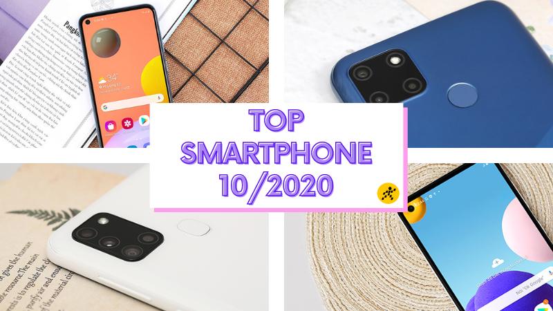 Top smartphone bán chạy nhất tháng 10/2020 tại Thế Giới Di Động