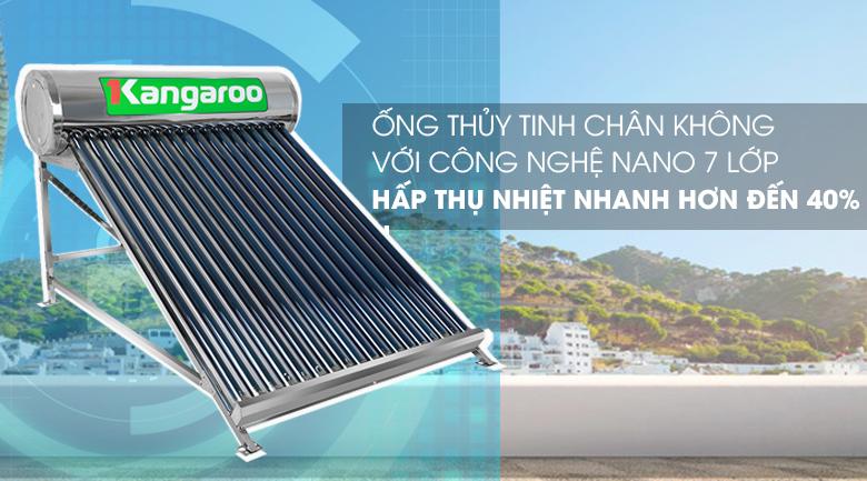 Thu nhiệt tốt bởi ống chân không công nghệ Nanomax 7 lớp