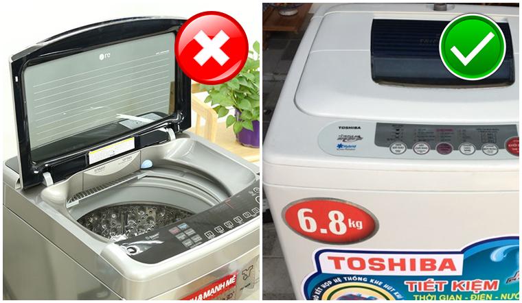 Có nên đóng nắp máy giặt sau khi sử dụng xong?