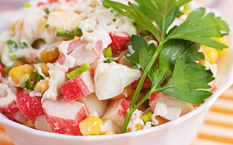 Món salad thanh cua