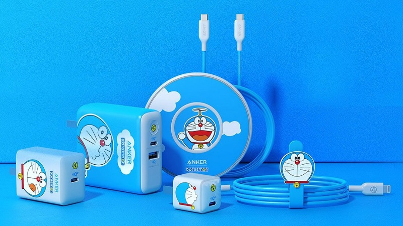 Bộ phụ kiện sạc nhanh lấy cảm hứng từ Doraemon dành cho iPhone 12