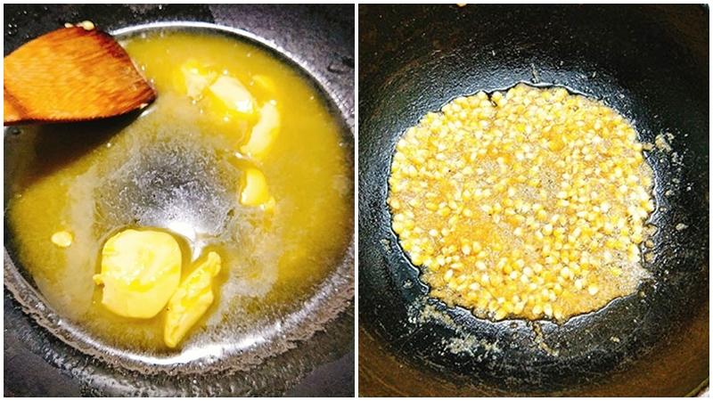 Cách làm bắp rang bơ phô mai