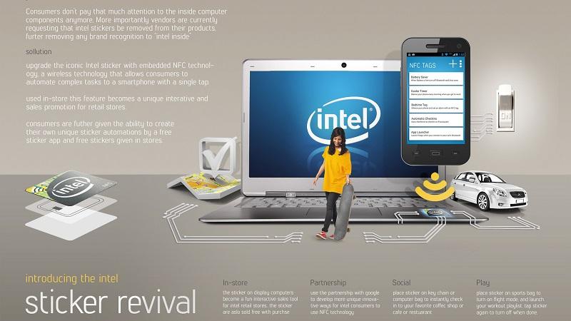 Một banner marketing của Intel