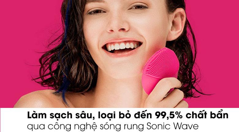 Công nghệ Sonic Wave, làm sạch sâu, loại bỏ đến 99,5% bụi bẩn và dầu thừa