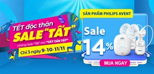 Quà cho Mẹ, khỏe cho bé, sản phẩm Philips Avent giảm đến 15%, mua ngay!