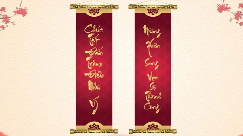 Chúc tết đến trăm điều như ý - Mừng xuân sang vạn sự thành công