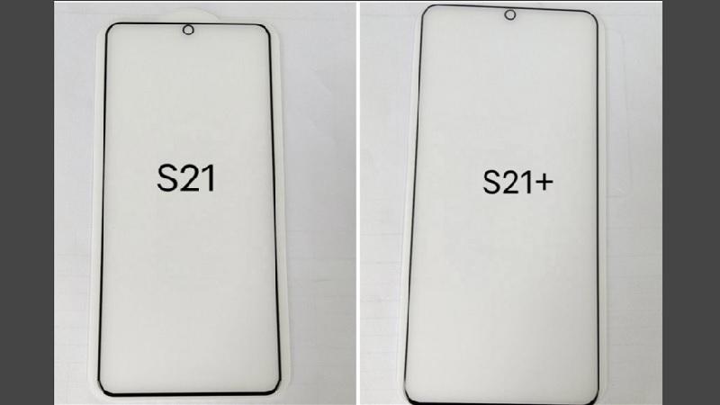 Rò rỉ miếng dán màn hình của Galaxy S21, S21+, tiết lộ thiết kế phẳng