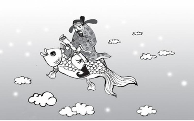 Ông Táo cưỡi cá chép về trời