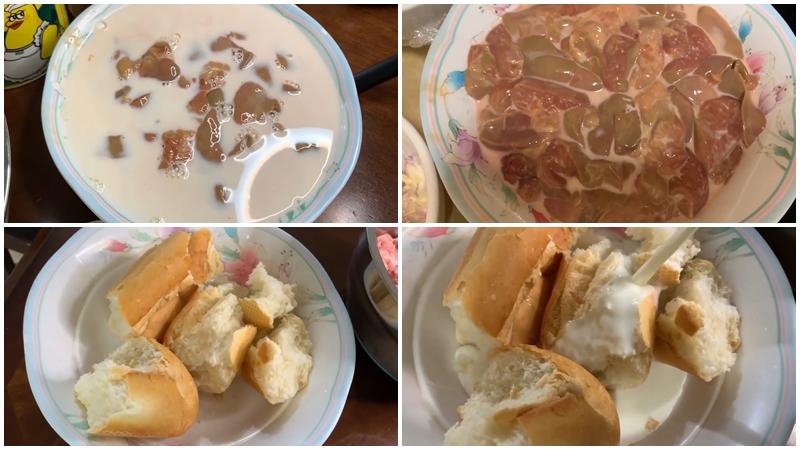 Sơ chế gan và bánh mì