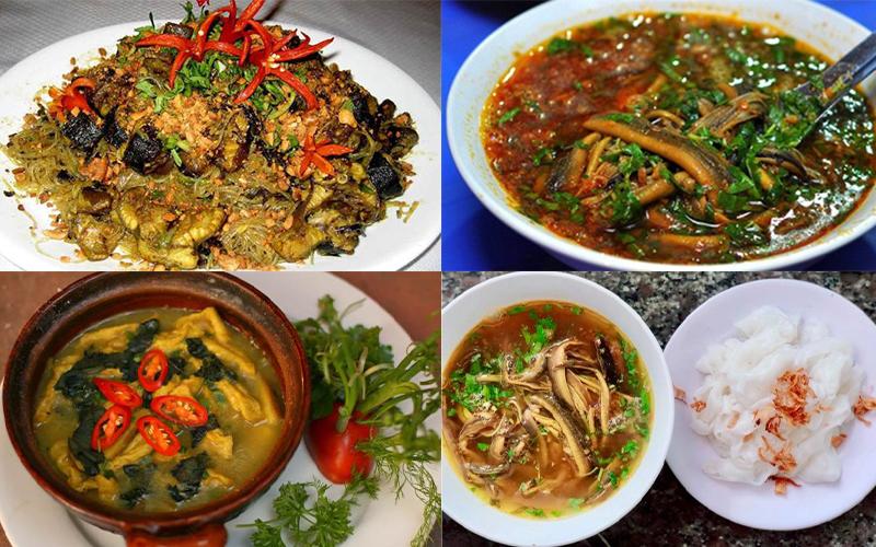 Món ăn tại Quán Lươn Cay