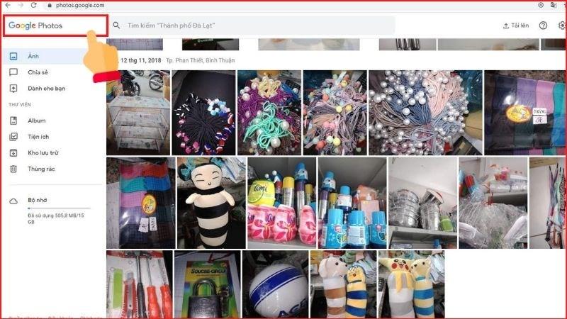 Mở Google Photos