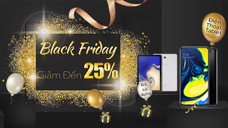 Hotsale Black Friday, điện thoại và máy tính bảng cũ giảm giá đến 25%