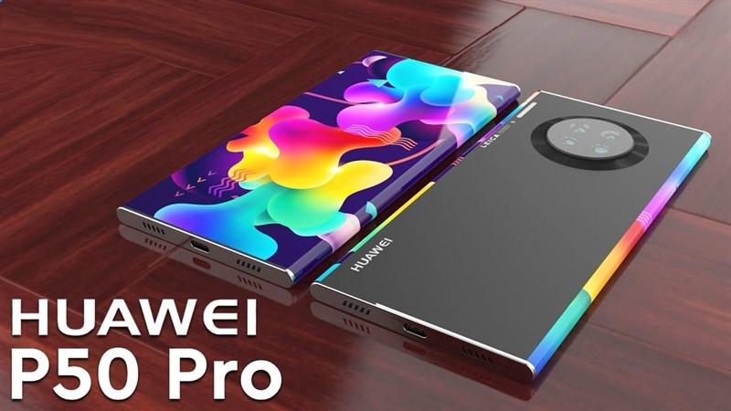 Huawei P50 Pro lần đầu lộ ảnh sắc nét với viền cạnh màn hình cong cuốn hút, camera selfie kép cùng cụm máy ảnh hầm hố mặt sau