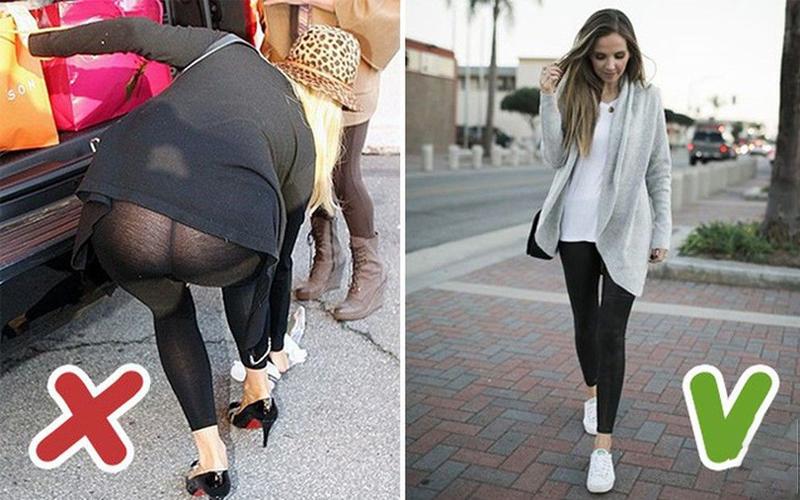Lựa chọn quần legging có chất liệu dày dặn