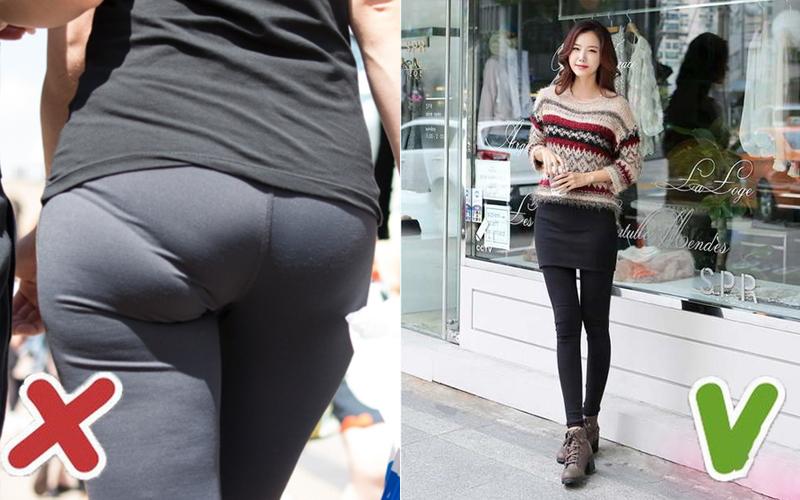 Mặc quần legging có độ ôm vừa phải