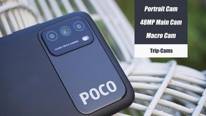 POCO M3 tập trung chính vào camera chính độ phân giải 48 MP