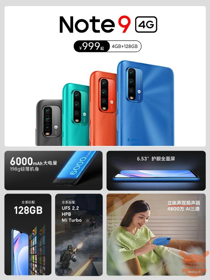 Cấu hình và tính năng của Redmi Note 9 4G