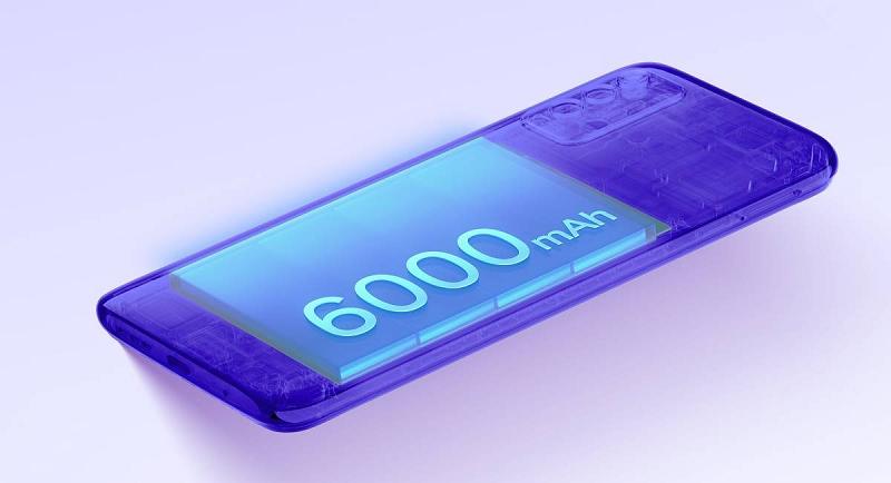 Viên pin 6.000 mAh được trang bị trên Redmi Note 9 4G