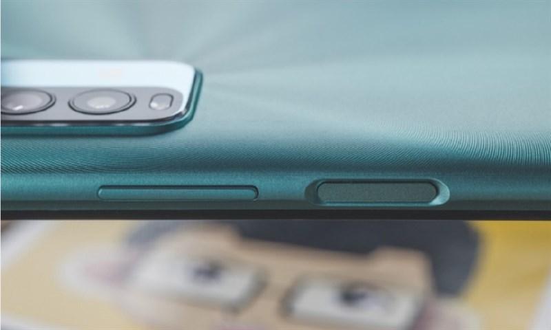 Cảm biến vân tay được đặt bên cạnh trái của Redmi Note 9 4G