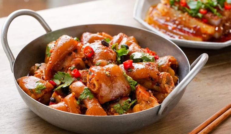 Cách làm giò heo trộn chua cay giai dòn sật sật ăn mãi không ngán