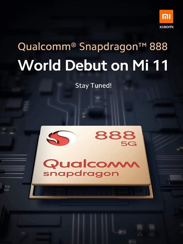 Xiaomi tuyên bố sẽ ra mắt Mi 11 là smartphone đầu tiên trên thế giới sử dụng chip đầu bảng Snapdragon 888