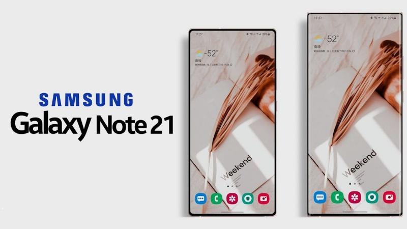 Concept Galaxy Note 21 với camera ẩn dưới màn hình