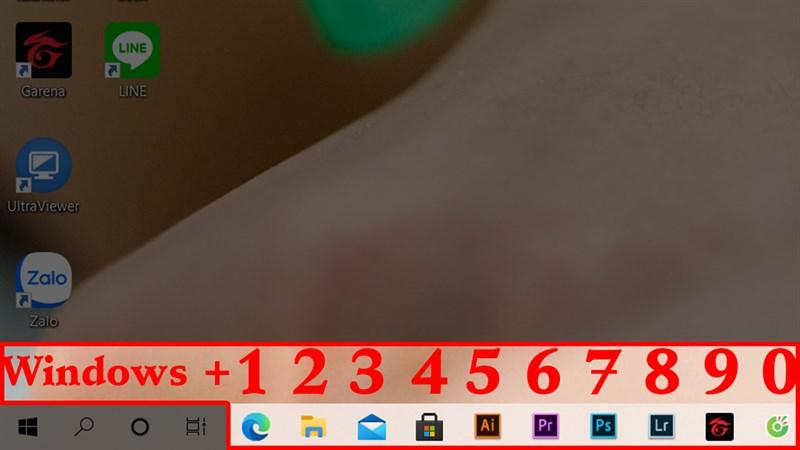 Mở nhanh ứng dụng trên thanh Taskbar