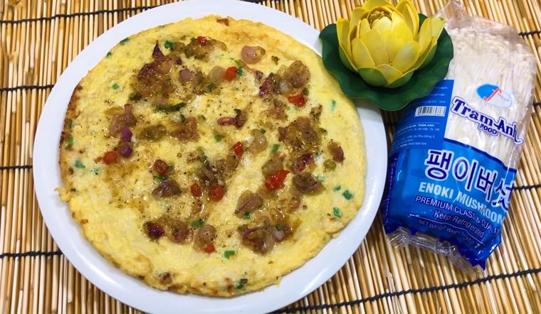 Cách làm trứng chiên nấm kim châm đơn giản, ngon miệng cho ngày bận rộn