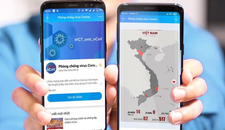 Cách tra cứu hành trình của bệnh nhân COVID-19 bằng ứng dụng Zalo trên điện thoại