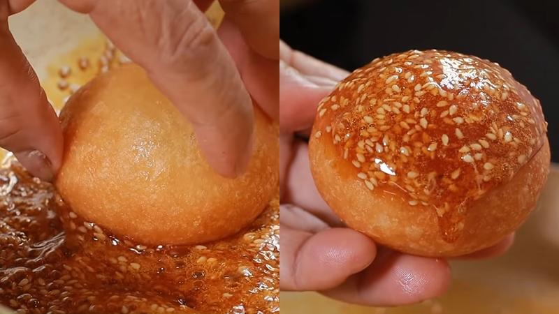 Nhúng bánh cam vào nước đường