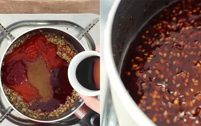 Làm sốt nướng thịt