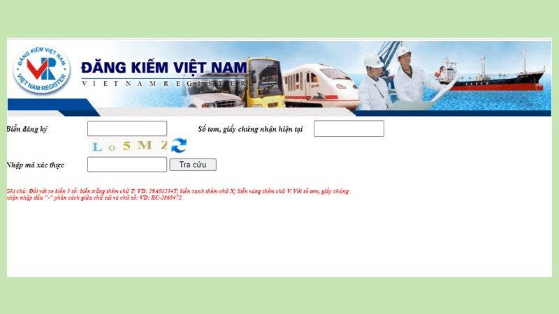 Tra cứu thông qua website của Cục Đăng kiếm Việt Nam