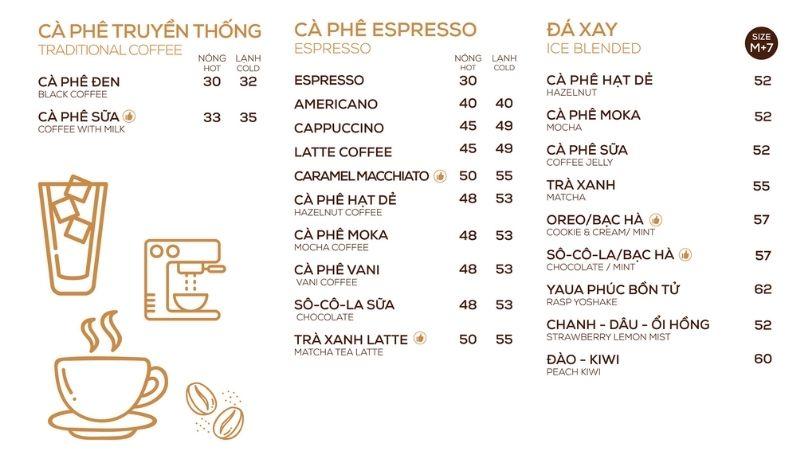 Menu Thức Coffee