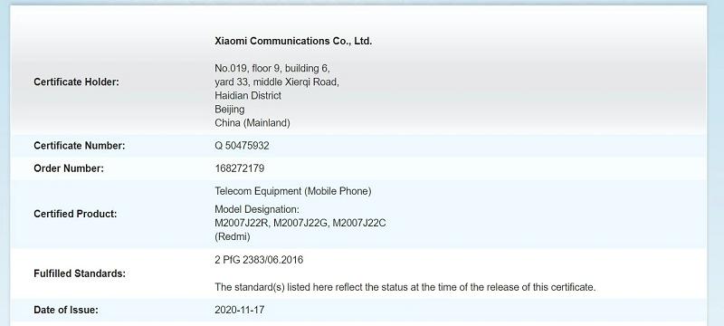 Redmi Note 9T 5G đạt chứng nhận quan trọng