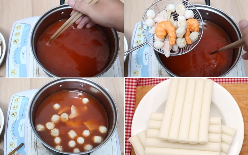 Cách nấu lẩu tokbokki trong tích tắc