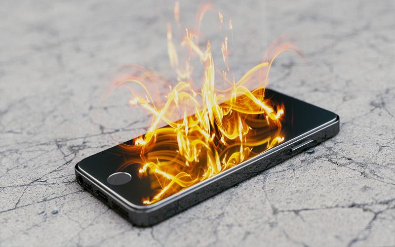Cháy điện thoại