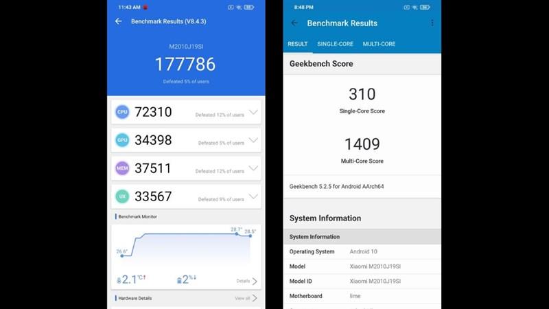Điểm Geekbench của Redmi Note 9 Power