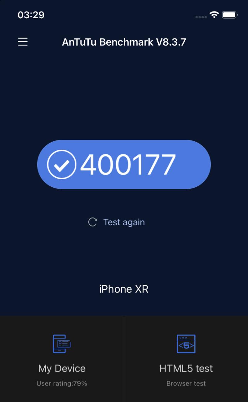 Điểm Antutu của iPhone XR