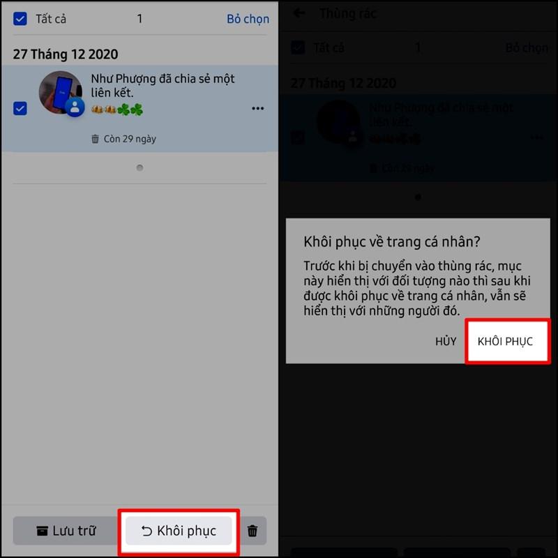 Cách khôi phục bài viết đã xóa trên Facebook siêu dễ