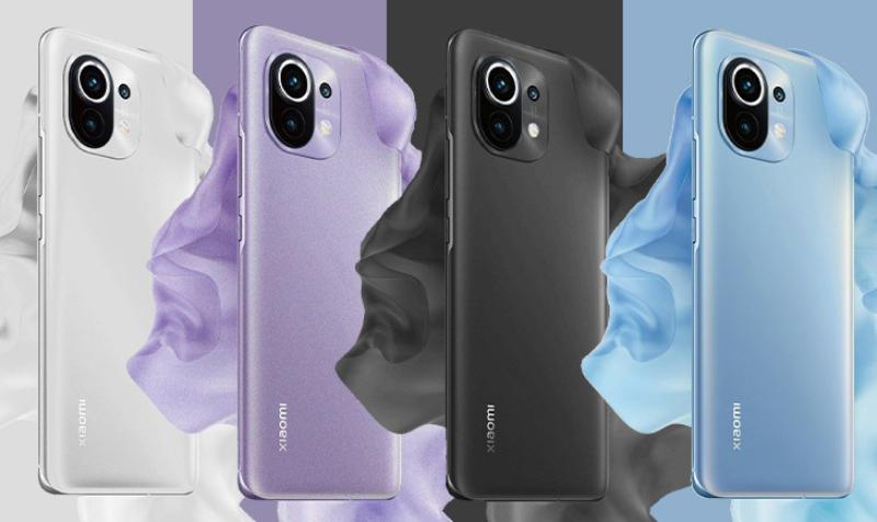 5 phiên bản màu sắc của Xiaomi Mi 11