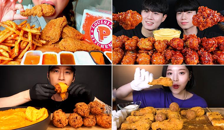 Tổng hợp 5 video ASMR ăn gà rán nhiều lượt xem nhất trên Youtube