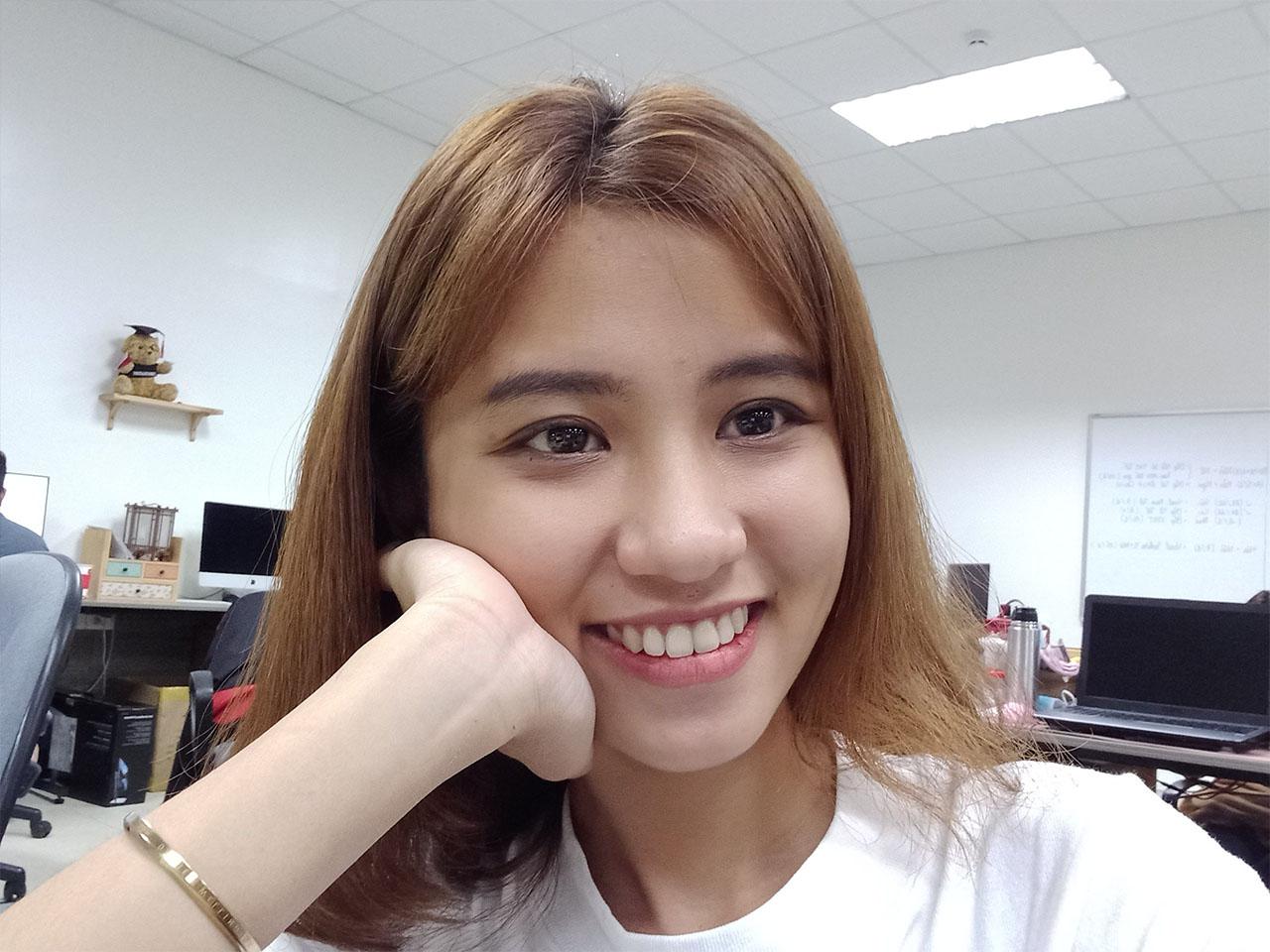 Test camera selfie của Galaxy A12